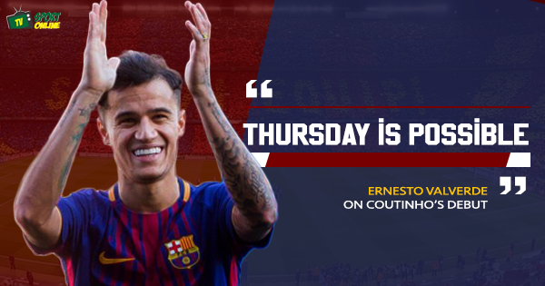 Valverde: Coutinho could make his Barcelona debut next week