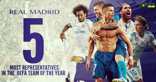 Five Real Madrid players make UEFA Fans' Team of the Year 2017, Neymar snubbed