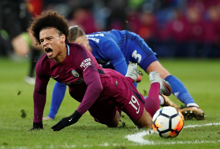 INJURY BLOW FOR MAN CITY AS SANE RULED OUT FOR UP TO SEVEN WEEKS
