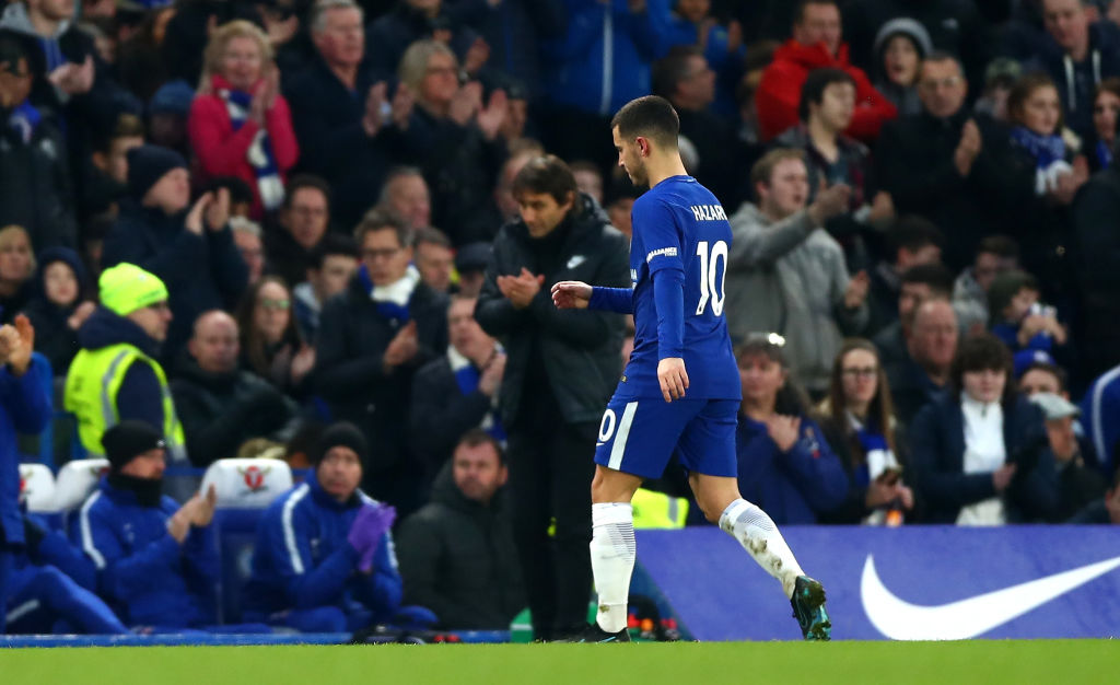 'Hazard should play 90 minutes' – Courtois surprised at Conte's Man Utd substitution