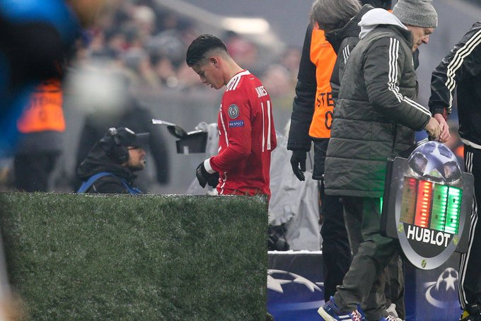James to miss 'a few days' of Bayern training with calf injury