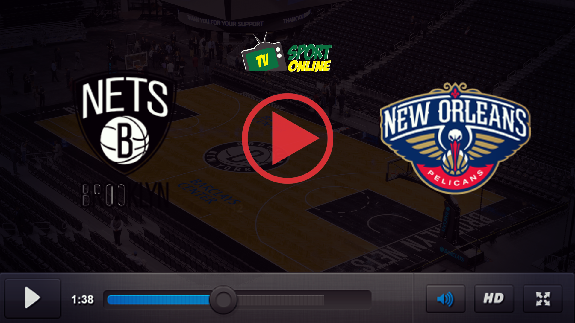 Watch Live Stream Brooklyn Nets – New Orleans Pelicans