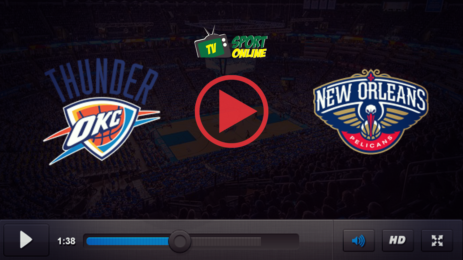 Watch Live Stream Oklahoma City Thunder – New Orleans Pelicans