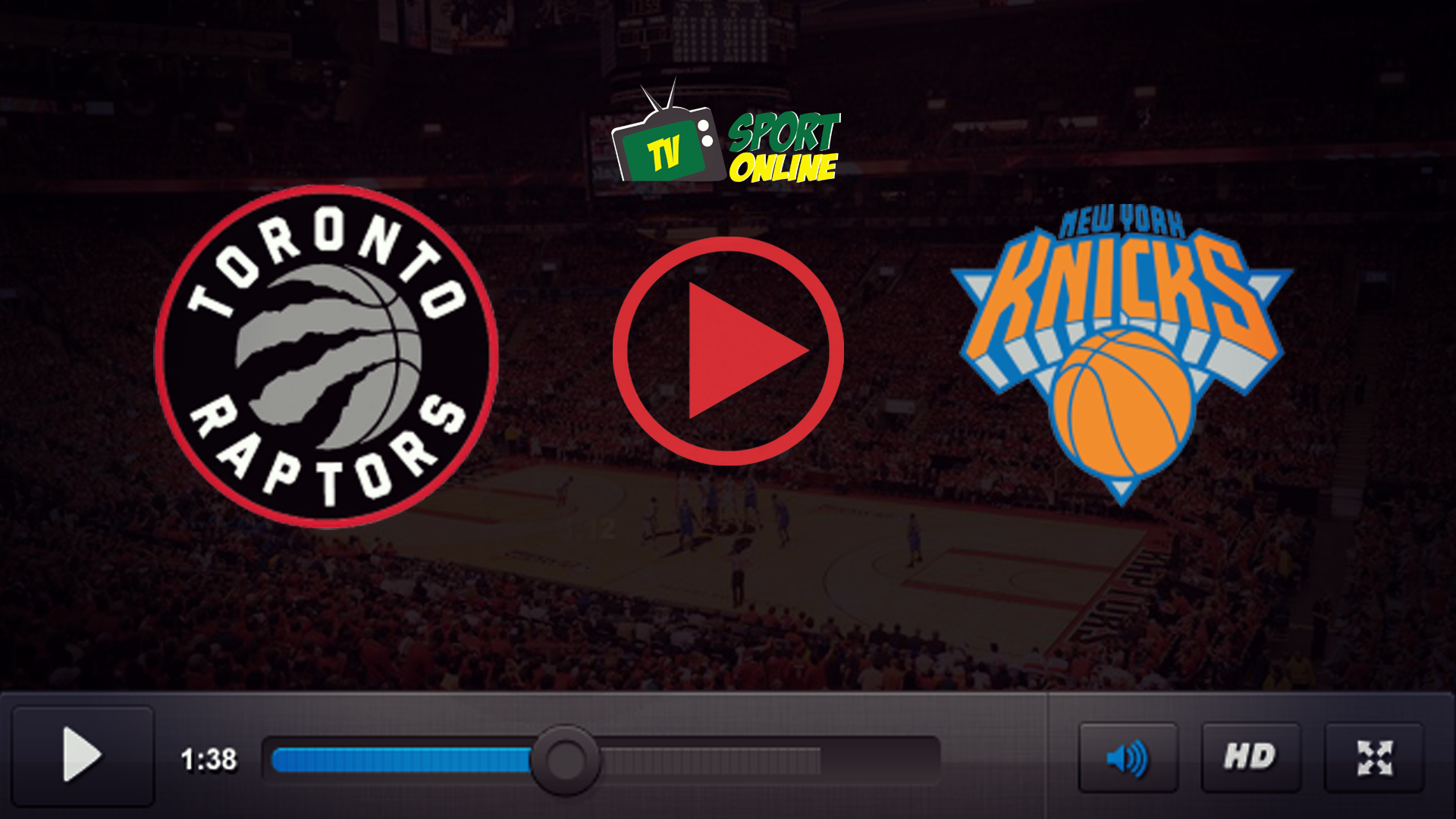 Watch Live Stream Toronto Raptors – New York Knicks