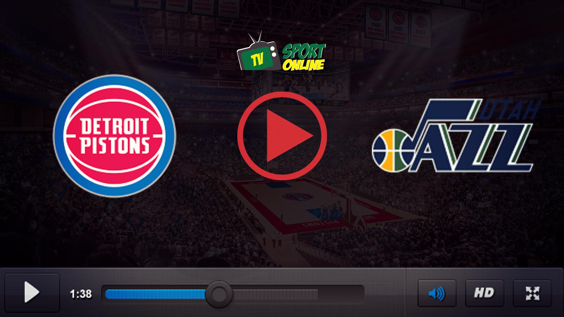 Watch Live Stream Detroit Pistons – Utah Jazz