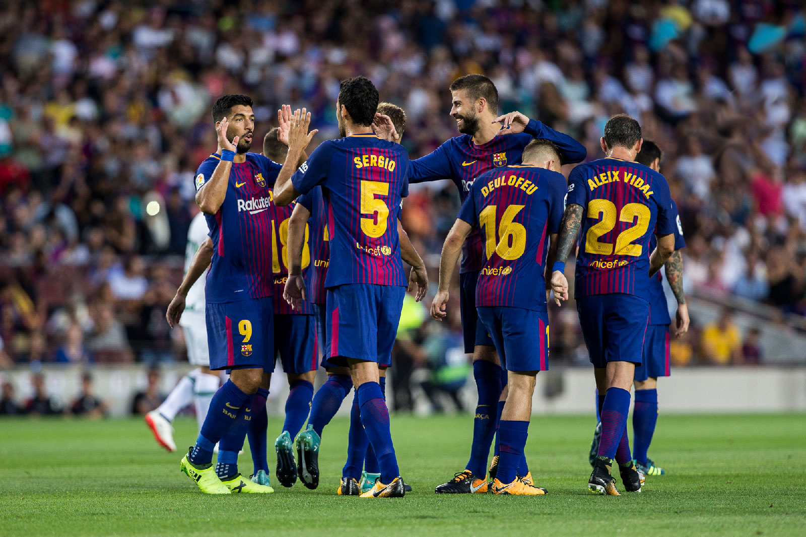 BARCELONA 2 ALAVES 1: SUAREZ AND MESSI TURN TABLES ON BRAVE VISITORS