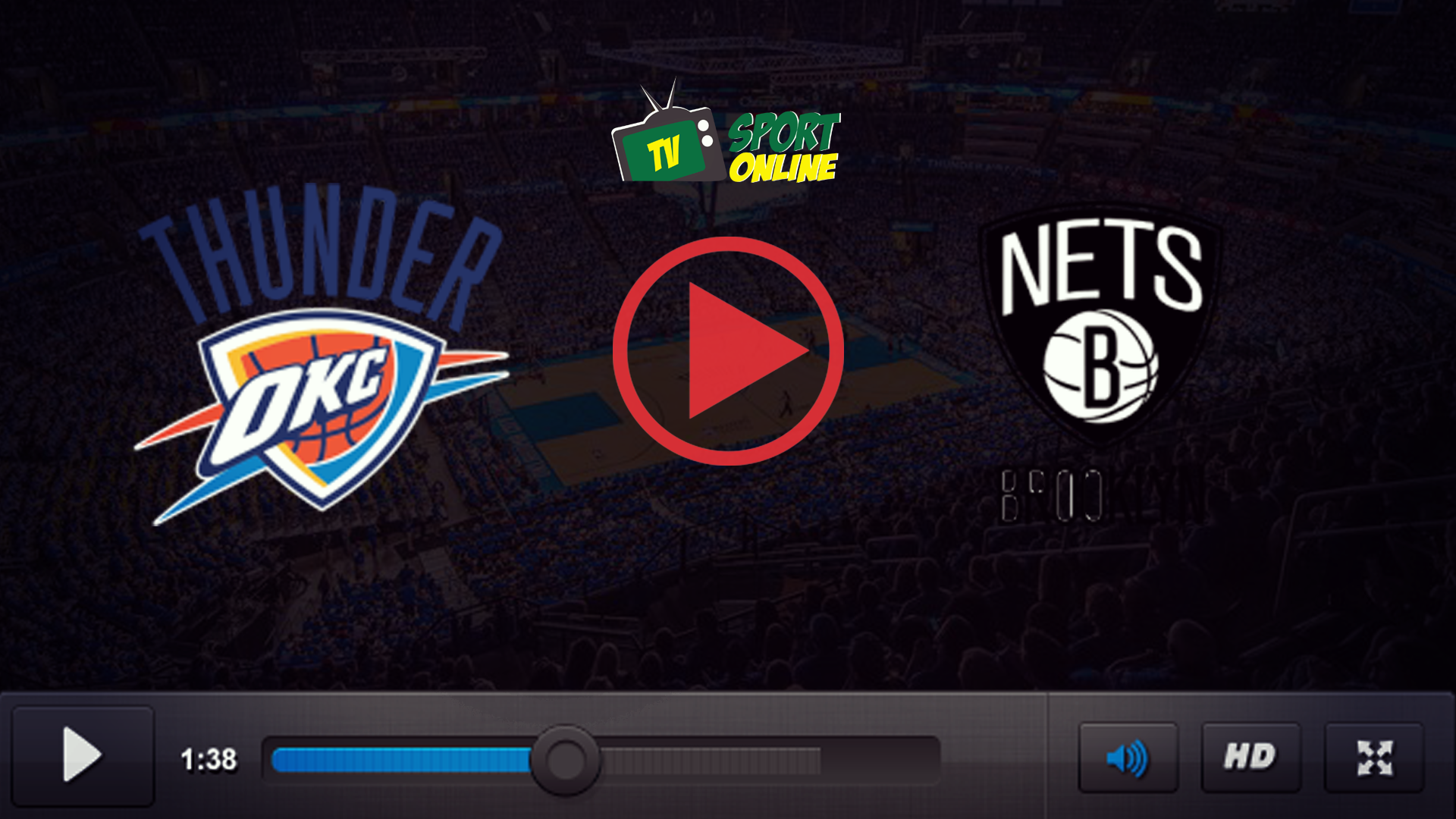 Watch Live Stream Oklahoma City Thunder – Brooklyn Nets