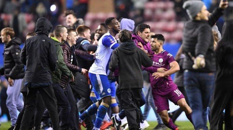 Aguero to face no action over Wigan fan fracas