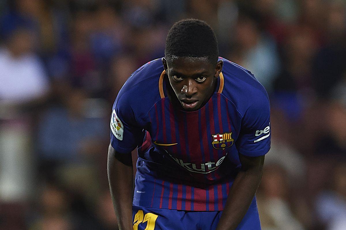 Barcelona's Dembele on track to return before Chelsea clash