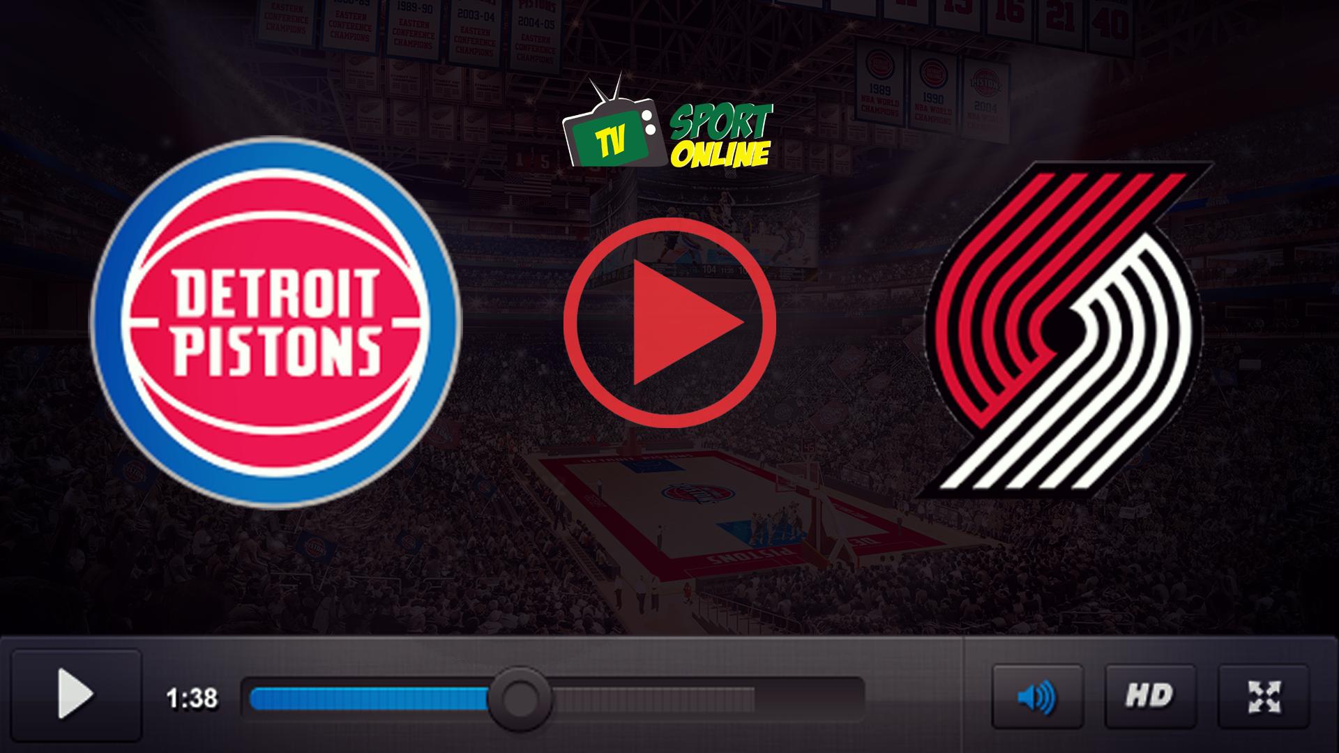 Watch Live Stream Detroit Pistons – Portland Trail Blazer