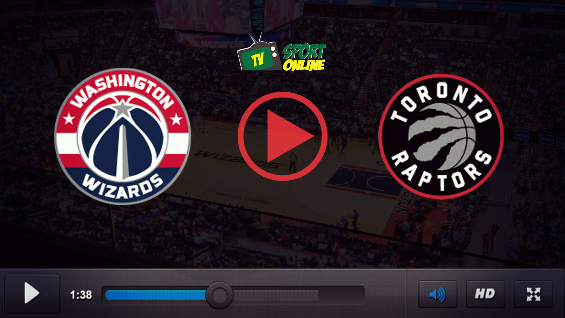 Watch Live Stream Washington Wizards – Toronto Raptors